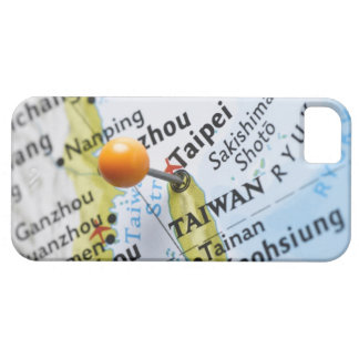 Map pin placed in Taipei, Taiwan on map, iPhone 5 Covers