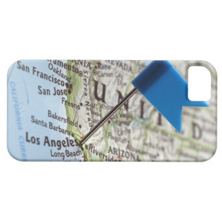 Map pin placed on Los Angeles, California on iPhone 5 Case