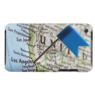 Map pin placed on Los Angeles, California on iPod Touch Case-Mate Case