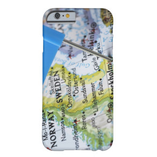 Map pin placed on Stockholm, Sweden on map, Barely There iPhone 6 Case