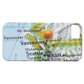 Map pin placed on Vancouver, Canada on map, Barely There iPhone 5 Case