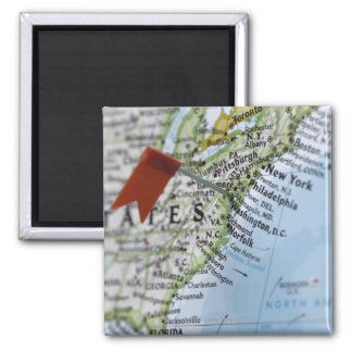 Map pin placed on Washington, D.C. on map, Magnet