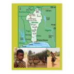 Map Postcard of Benin