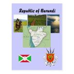 Map postcard of Burundi