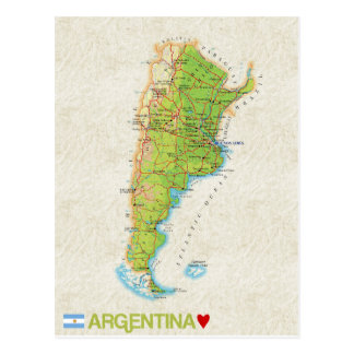 MAP POSTCARDS ♥ Argentina