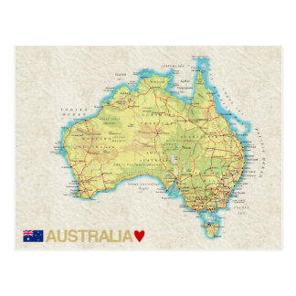 MAP POSTCARDS ♥ Australia