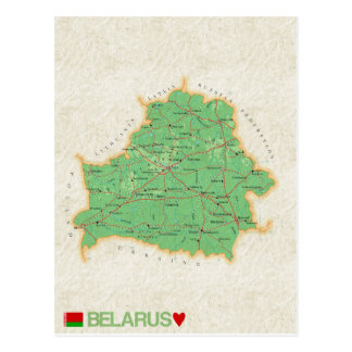 MAP POSTCARDS ♥ Belarus
