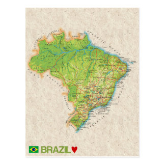 MAP POSTCARDS ♥ Brazil