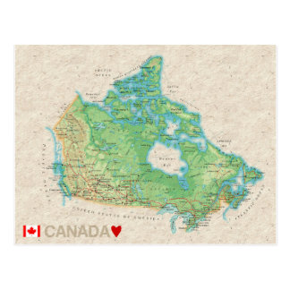 MAP POSTCARDS ♥ Canada