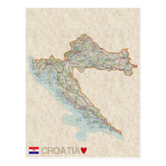 MAP POSTCARDS ♥ Croatia