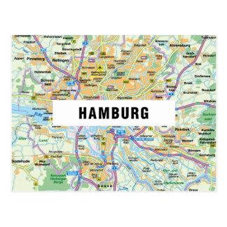 MAP POSTCARDS ♥ Hamburg