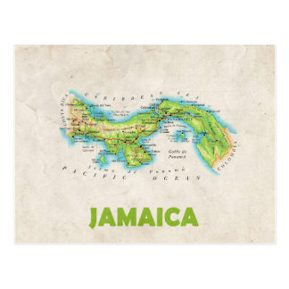 MAP POSTCARDS ♥ Jamaica