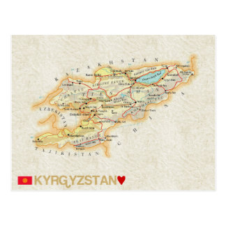 MAP POSTCARDS ♥ Kyrgyzstan