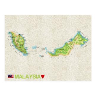 MAP POSTCARDS ♥ Malaysia