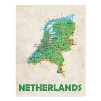 MAP POSTCARDS ♥ Netherlands