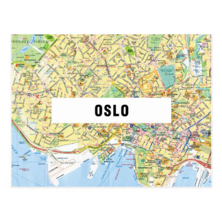 MAP POSTCARDS ♥ Oslo
