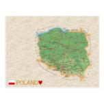MAP POSTCARDS ♥ Poland