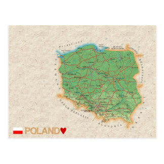 MAP POSTCARDS ♥ Poland