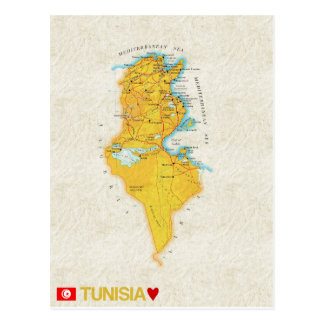 MAP POSTCARDS ♥ Tunisia