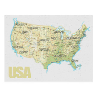 MAP POSTCARDS ♥ USA