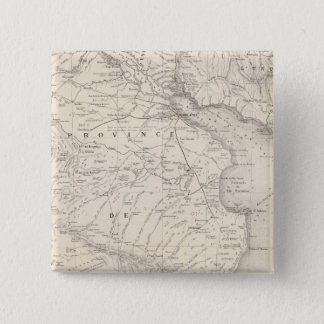 Map, Province of Buenos Aires, neighboring regions 15 Cm Square Badge