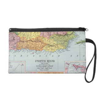MAP: PUERTO RICO, 1900 WRISTLET CLUTCH