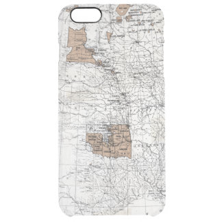 MAP: RESERVATIONS, 1888 CLEAR iPhone 6 PLUS CASE