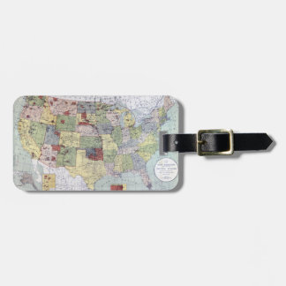MAP: RESERVATIONS, 1892 LUGGAGE TAG