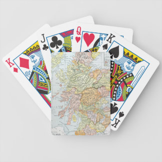 MAP: SCOTLAND BICYCLE PLAYING CARDS