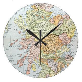 MAP: SCOTLAND LARGE CLOCK