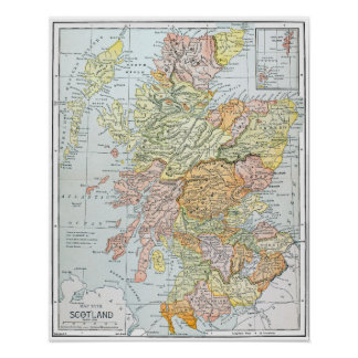 MAP: SCOTLAND POSTER