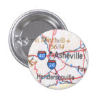 Map showing Asheville / Hendersonville NC Button