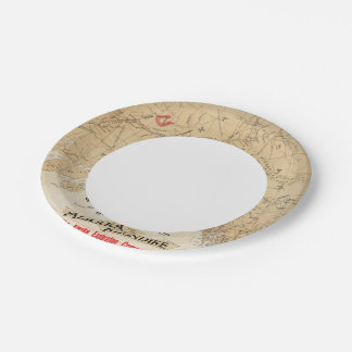 Map Showing Routes from San Francisco to Alaska 7 Inch Paper Plate