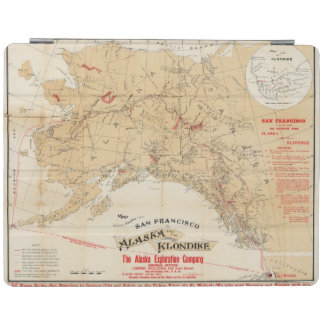 Map Showing Routes from San Francisco to Alaska iPad Cover