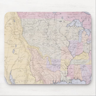Map showing the localities of the Indian tribes Mouse Pad