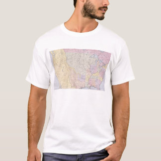 Map showing the localities of the Indian tribes T-Shirt
