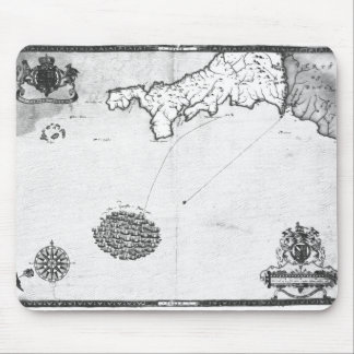 Map showing the route of the Armada fleet Mouse Mat