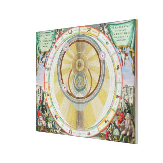 Map showing Tycho Brahe's System of Planetary Orbi Gallery Wrap Canvas