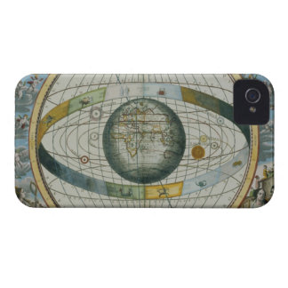 Map Showing Tycho Brahe's System of Planetary Orbi iPhone 4 Case