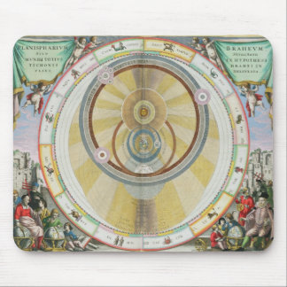Map showing Tycho Brahe's System of Planetary Orbi Mouse Mat