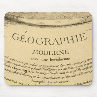 Map Title Page Mouse Pad