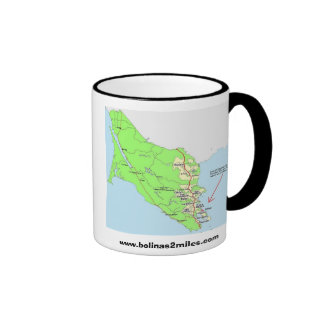 Map to Bolinas Ringer Coffee Mug