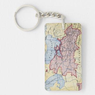 MAP: UKRAINE, c1906 Key Ring