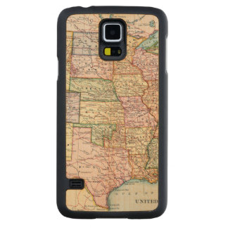 Map: United States, 1905 Carved Maple Galaxy S5 Case