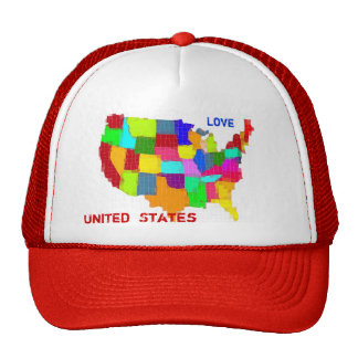 Map - United States Trucker Hat