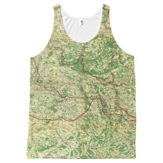 Map Western Front All-Over Print Tank Top