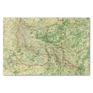 Map Western Front Tissue Paper