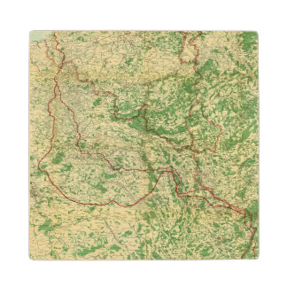 Map Western Front Wood Coaster
