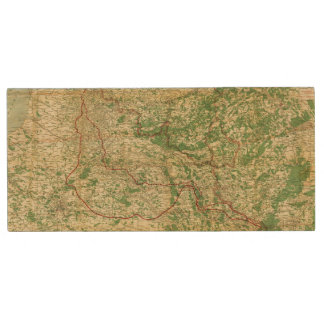 Map Western Front Wood USB Flash Drive