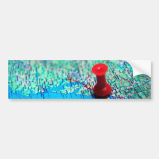 Map-with-pin-on-Washington MAP BLUE OCEAN LAND WAS Car Bumper Sticker